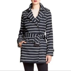 Banana Republic Striped Trench Coat